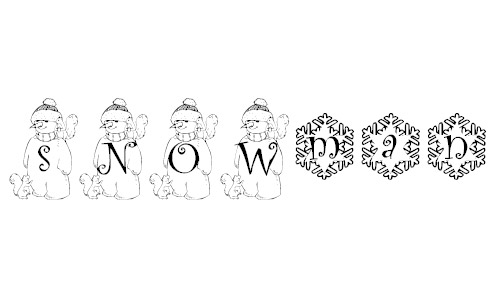 cute snowman fonts