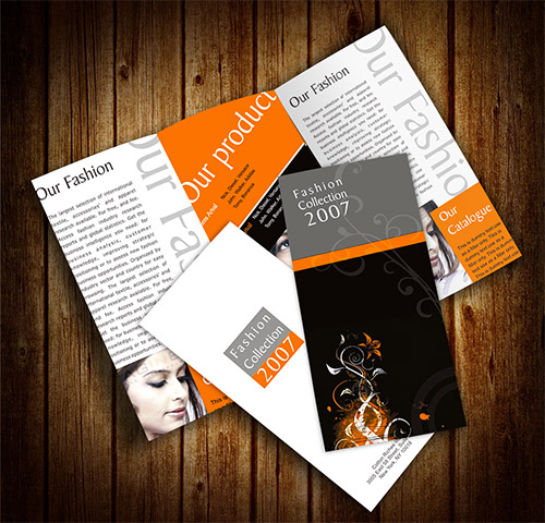 fashion brochure designs