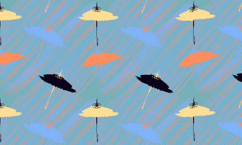 Flying umbrella patterns