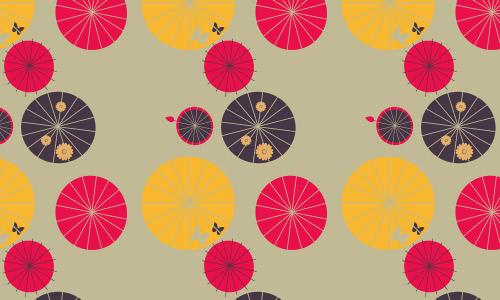 Kamun umbrellas pattern