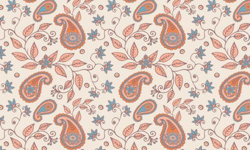 leaf paisley pattern free
