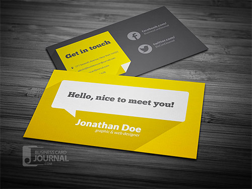 long shadow business cards
