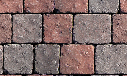 Square brick seamless pavement