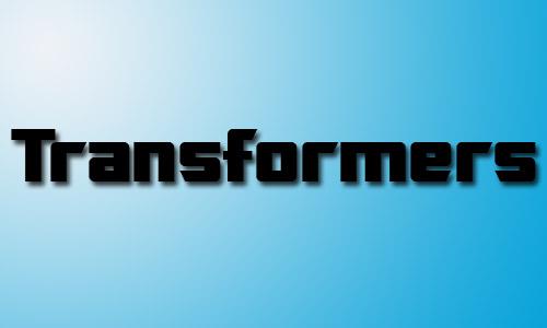 Transformers fonts