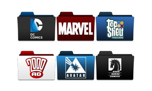 comic folder icons