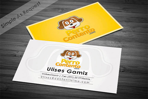 dog business card design