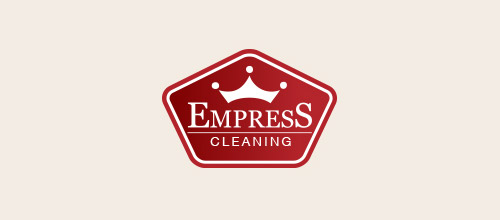 empress cleaning logo design