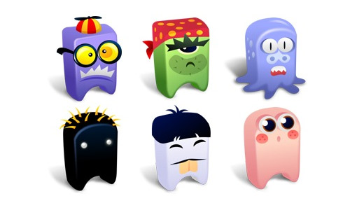 Free cute monster icon sets