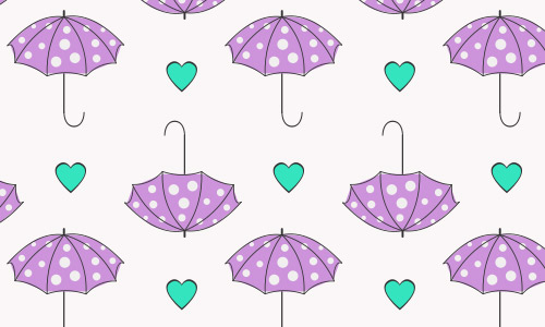 Heart umbrella pattern