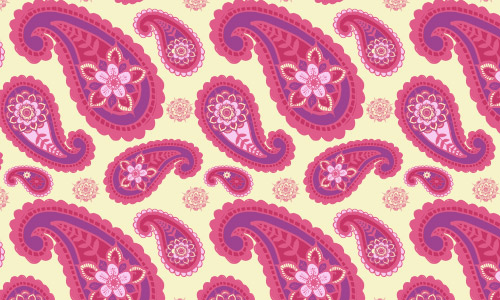 pink paisleys free patterns