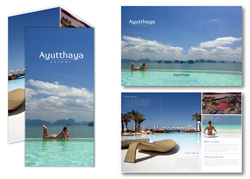 resort brochures designs