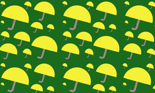 Green yellow umbrella pattern