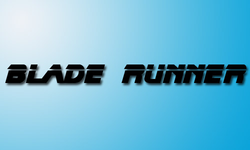 Blade runner movie fonts