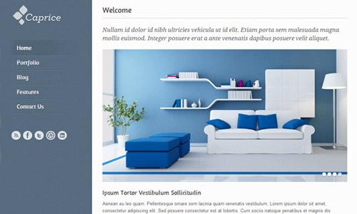 caprice html5 theme free