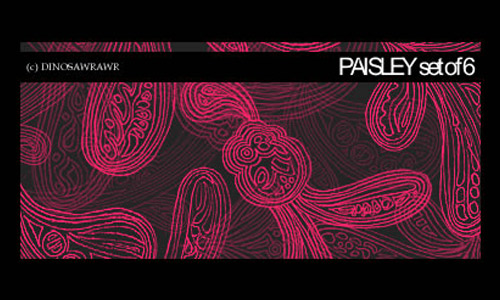 Decorative paisley brush