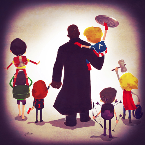 Shield  Andry-Shango Super families illustrations