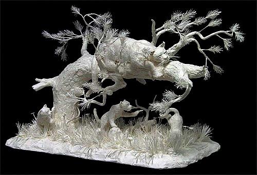 lion lazy cast paper Eckman Fine Art featured