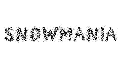 snowmania fonts free