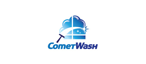 wash window logo design