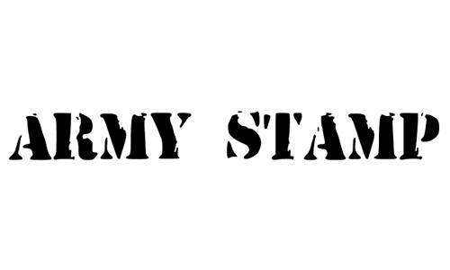 army stamp fonts free