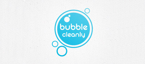 bubble cleaning logo design
