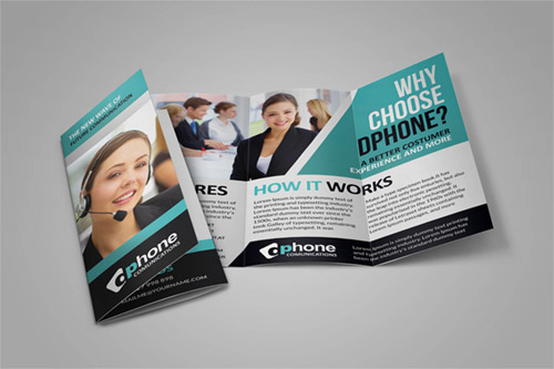 call center brochures designs