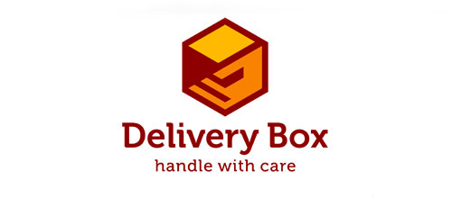 delivery box logo design