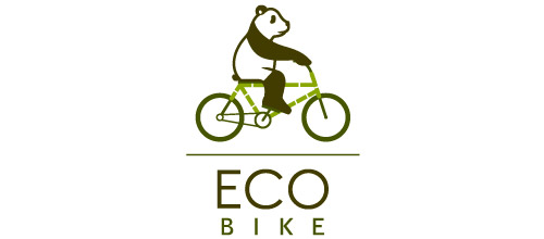eco logo design bike