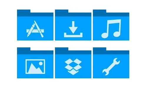 flat blue folders icons free