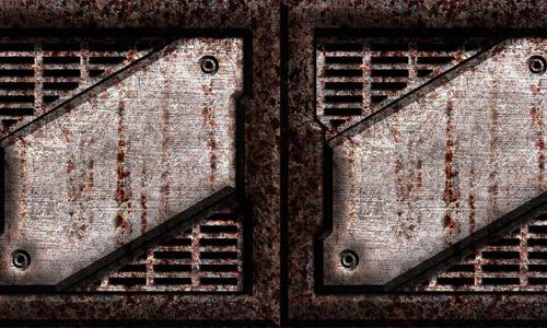 Grate seamless rust metal texture