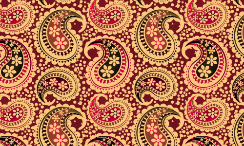 paisley flower patterns