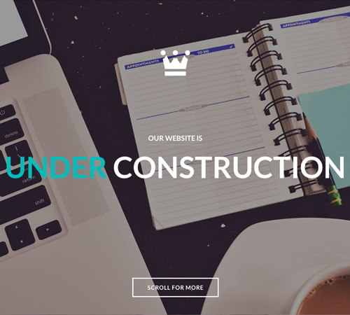 parallax under construction page