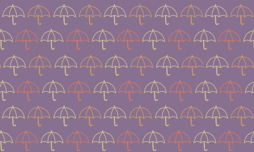 Purple umbrella pattern
