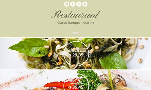 restaurant html5 free theme