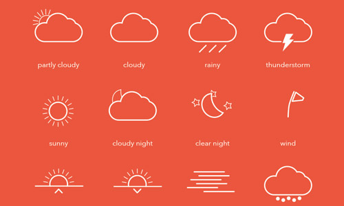 30 Sets of Free Weather Icons | Naldz Graphics