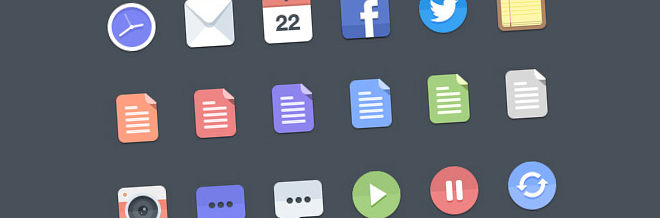 Simplistic Yet Beautiful Free Flat Icons For Your Designs