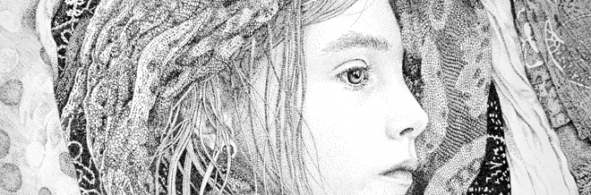 Realistic Artworks Made From Thousands Of Dots