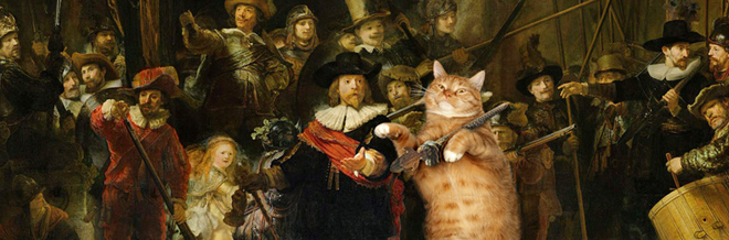 This Cuddly Fat Cat Poshly Poses In Famous Paintings