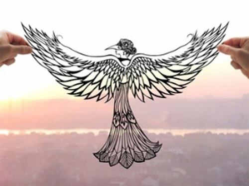 eagle dream paper cut Dmytro Iuliia featured
