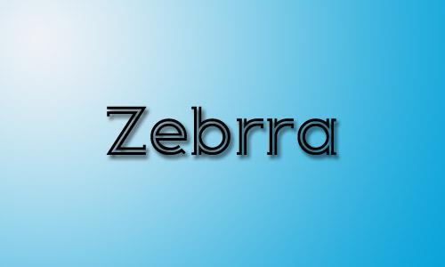 Zebrra inline font