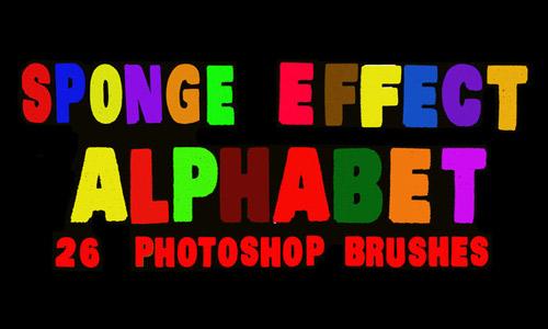Letter brush sponge