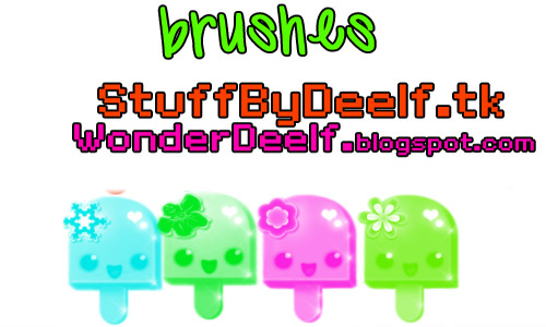 Cute popsicle photoshop brushes