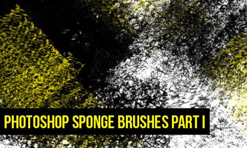 Grunge brush sponge