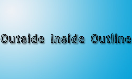 Outside outline font