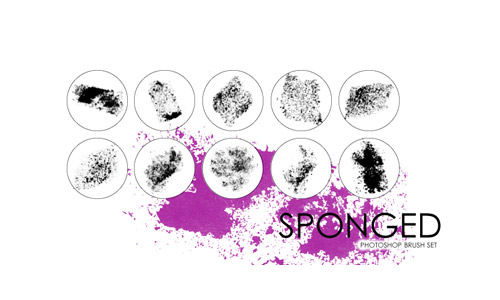 Sponge brushes photoshop