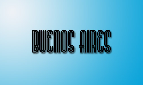 Buenos aires font inline style