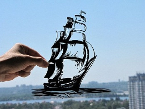 ship on sail dream paper cut Dmytro Iuliia featured