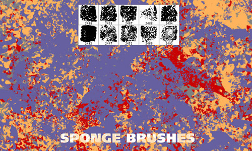 Hi res sponge brushes