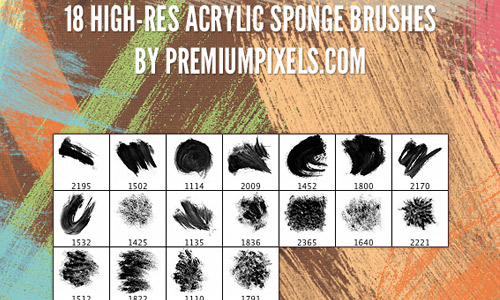 Acrylic sponge brush