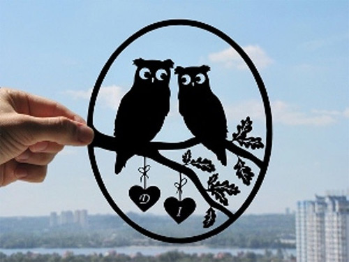 couple owl dream paper cut Dmytro Iuliia featured